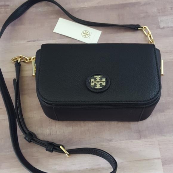 a614a16750f3 Tory Burch Crossbody Whipstitch Logo Mini Bag
